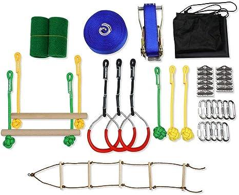 Piaoliangxue Ninja Warrior Obstacle Slackline Kit - Equipo de ...