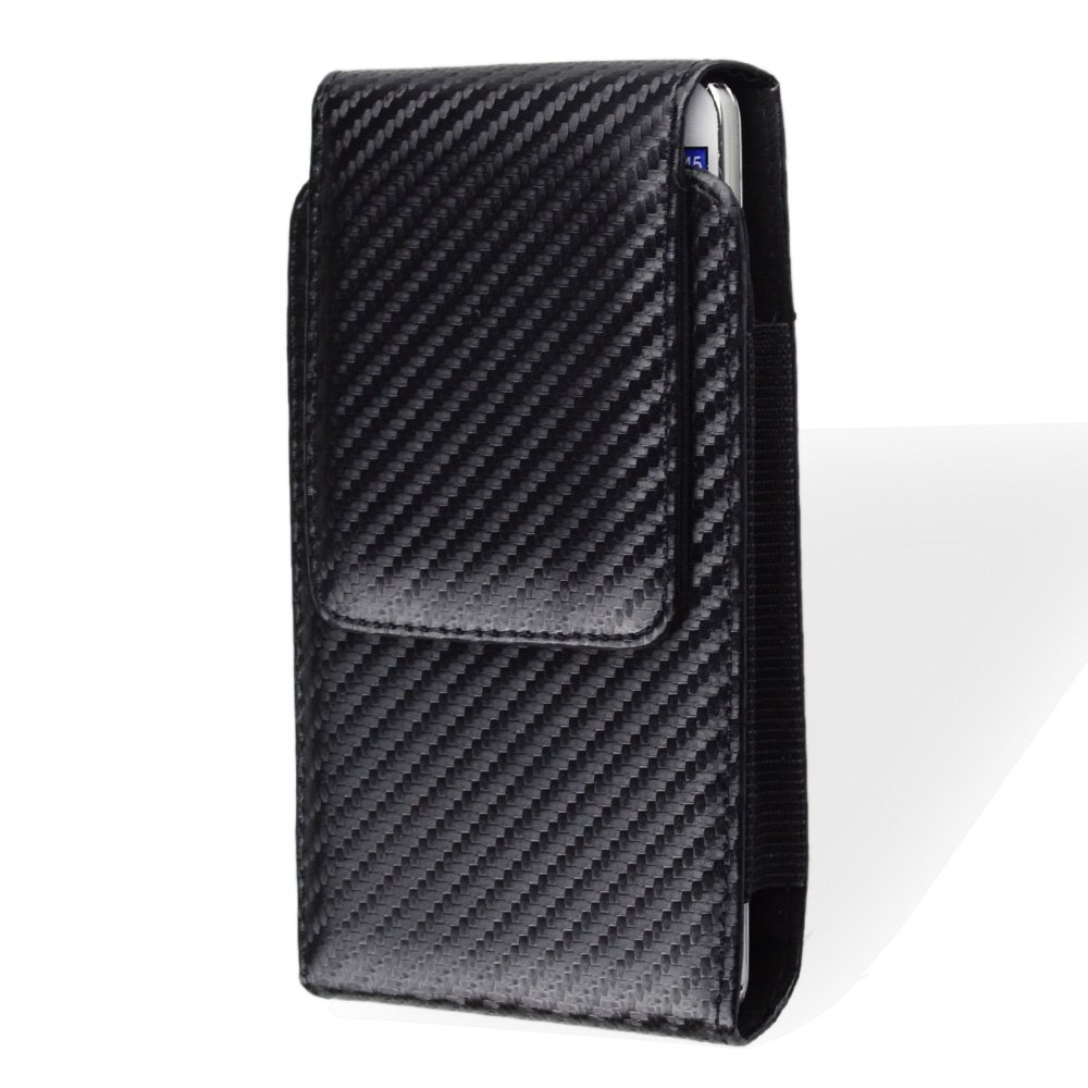 Faux Leather Roating Belt Clip Holster Pouch Case for Samsung Galaxy S10e / J2 Pure/LG Tribute Empire/LG Aristo 3 / Alcatel 1 / 1S / Motorola Moto G5 / E4 / iPhone Xs Without Case