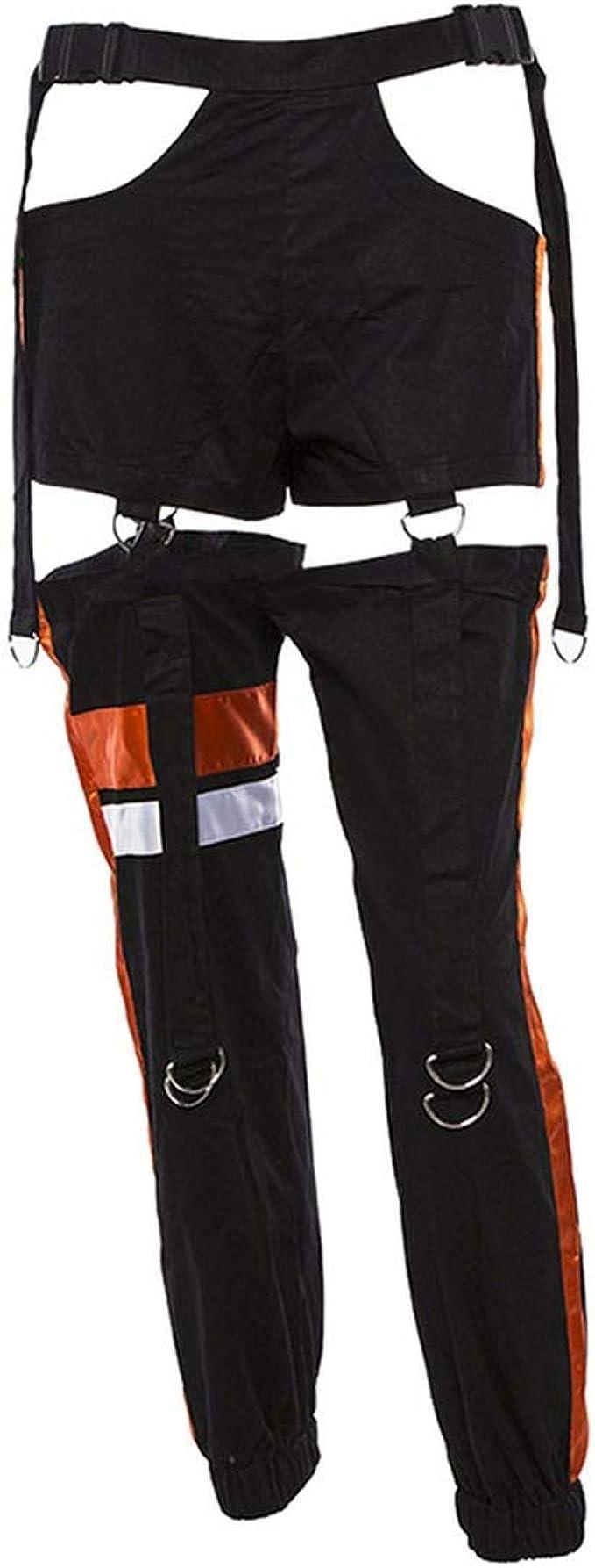 HuangKang-pants Pantalones de chándal para Mujer, de Cintura Alta ...