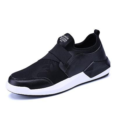 Chaussure de Sport Homme Mocassin Loafers Basket Mode sans Lacet Chaussure  de Running Course Jogging Voyage 0404d014795