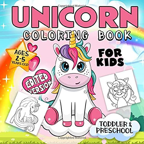 Unicorn Coloring Book For Kids Ages 2-5: A Collection Of Fun And Easy  Unicorn, Unicorn Friends And Other Cute Baby Animals Coloring Pages For Kids,  Toddlers, Preschool: Press, Go Lucky: 9781075376436: Amazon.com: