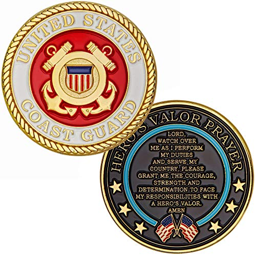 Coast Guard Challenge Coin - Hero's Valor United States Coast Guard Challenge Coin Prayer 1-Pack (Single Coin)