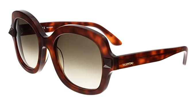 abb9889174be Image Unavailable. Image not available for. Color  VALENTINO Sunglasses  V697S 725 Blonde Havana 53MM