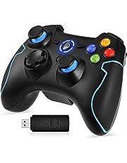 EasySMX ESM-9013 - Controller gioco senza fili, Nero/Blu