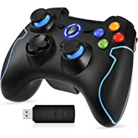 EasySMX Mando para PC, [Regalos Originales] Mando Inalámbrico PS3 Gamepad Wireless Compatible con Windows XP y Vista…