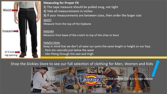 Amazon.com: Dickies pantalones de trabajo, corte recto ...