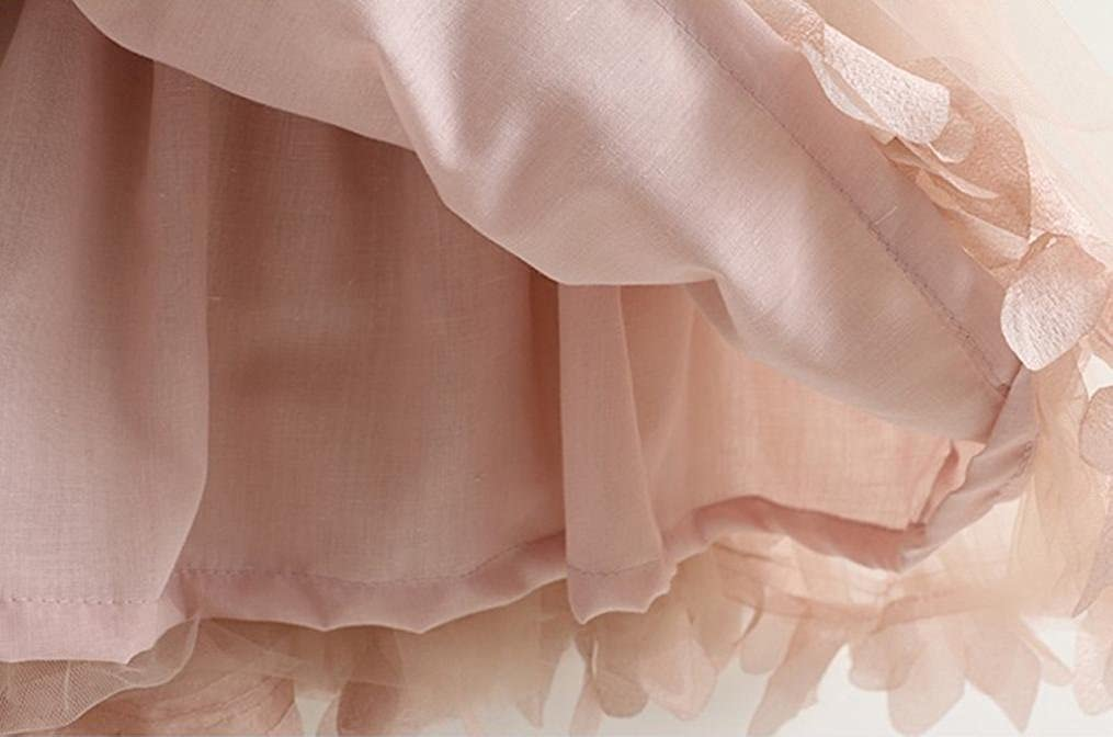 TM Elevin Toddler Kid Baby Girl Tulle Tutu Skirt Lace Sleeveless Princess Pageant Dresses