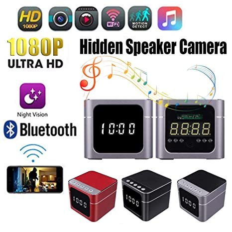 Cámara Oculta Wireless Wifi Portable Mini HD 1080P WI-FI Reloj Cámara Oculta Bluetooth Altavoz