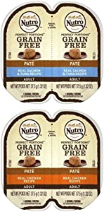 Nutro Perfect Portions Grain Free Soft Loaf Cat Food 2 Flavor 8 Can Variety Bundle, (4) Each: Salmon & Tuna, Chicken - 2.6 Ounces (8 Cans Total)