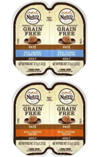 Nutro Perfect Portions Grain Free Soft Loaf Cat Food 2 Flavor 8 Can Variety Bundle,