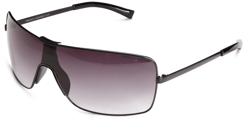 b53b8c14f452 FCUK FCU147 Men s Sunglasses Shiny Black One Size  Amazon.co.uk  Clothing