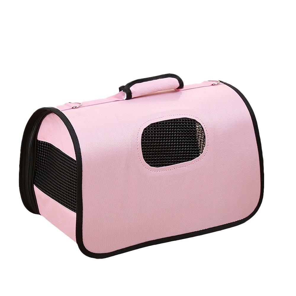 Zhou Yunshan Borsa da viaggio per animali domestici Borsa da viaggio per cani Gatto aviazione rosa. portatile (colore   rosa)