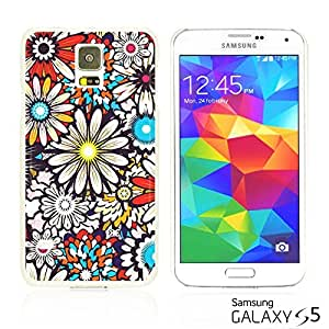 OnlineBestDigital - Flower Pattern Hardback Case for Samsung Galaxy S5 - Colorful Sunflower