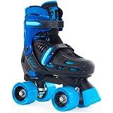 SFR Storm II Kids Adjustable Roller Skates Black/Blue