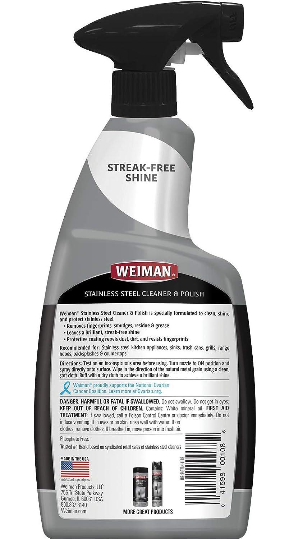 Amazon.com: Weiman Limpiador y abrillantador de acero ...