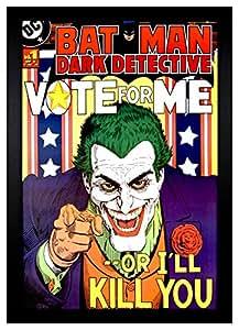"Amazon.com: Batman Joker ""Vote For Me or I'll Kill You"