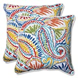 outdoor accent pillows - Pillow Perfect Outdoor Ummi Throw Pillow, 18.5-Inch, Multicolored, Set of 2