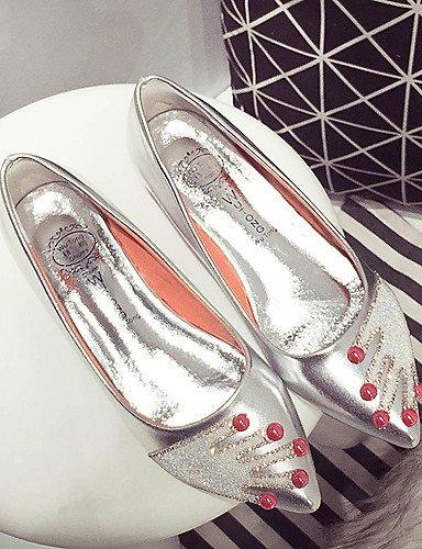 punta redonda sintético negro y casual vestido libre pisos PDX cn39 white de aire mujer zapatos cuero us8 plata blanco al carrera uk6 oficina eu39 wYA5xXq