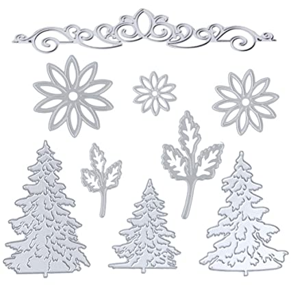Trees Forest Christmas Metal Cutting Dies Scrapbooking New Arrival Dies Xmas Craft Metal Dies New 2019 For Diy Card Making Arts,crafts & Sewing