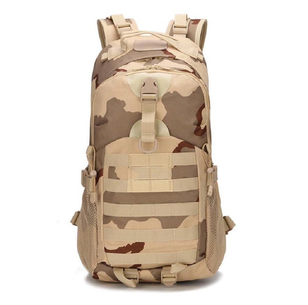 ZC&J Outdoor 20-35L Kapazität taktische Tarnung Schulter Tasche, Outdoor-Freizeit Wanderung Bergsteigen Übung Paket, Oxford Tuch feste Verschleiß verstellbaren Gürtel Schultertasche