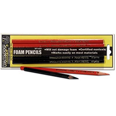 Woodland Scenics WS 1431 Foam Pencils - 2 Red-2 Black: Toys & Games