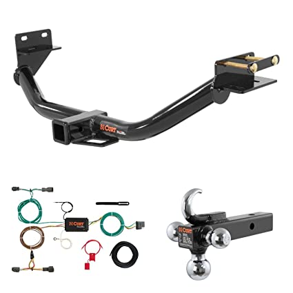 6162GbvJaYL._SX425_ amazon com curt trailer hitch, wiring & w tow hook ball mount for