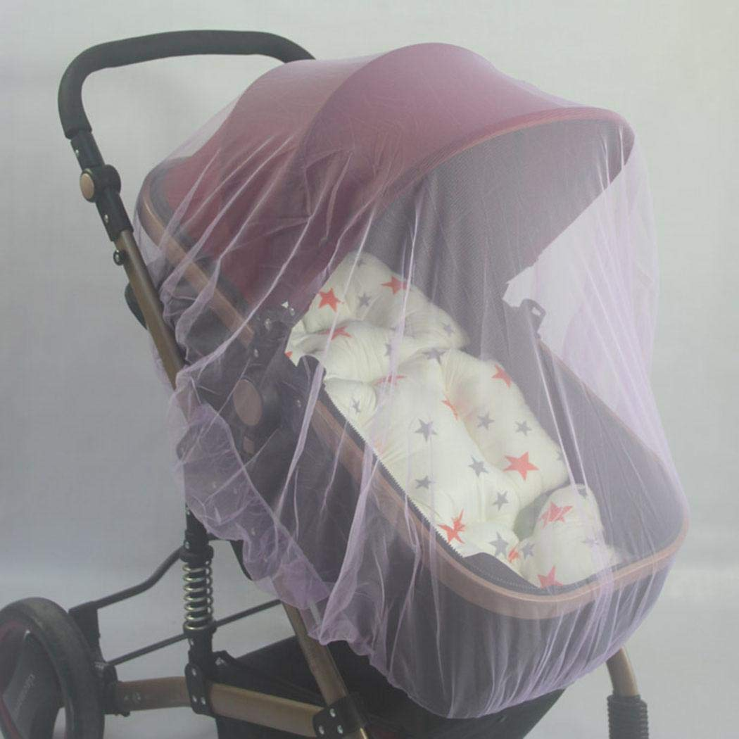 Qenci Infants Baby Stroller Mosquito Insect Net Safe Mesh Crib Netting