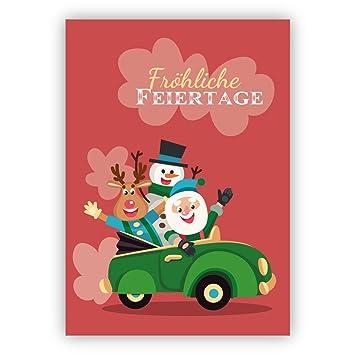 Weihnachtsgrüße Schreiben Privat.1 Weihnachtsgruß Privat Geschäftlich Autofahrer Weihnachtskarte
