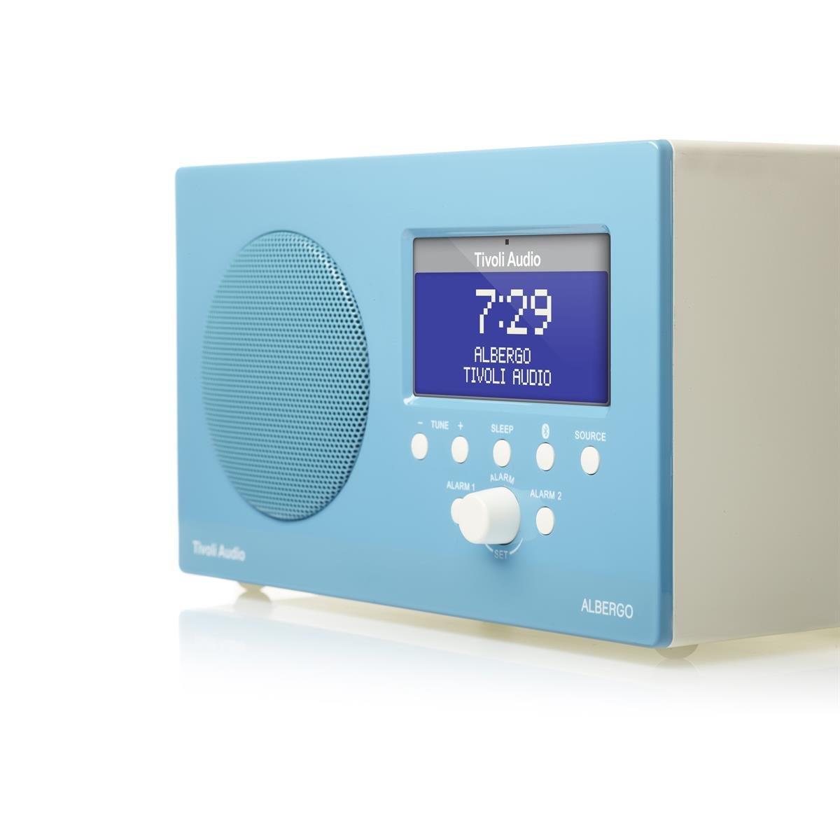 Amazon.com: Tivoli Audio Albergo Bluetooth Clock Radio (Gloss Blue ...