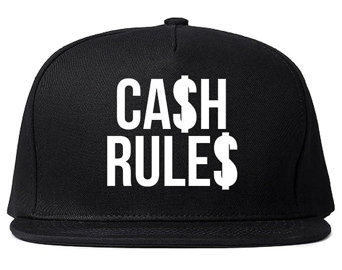 Kings Of NY Cash Rules Money Everything Around Me Music Snapback Hat Black  at Amazon Men s Clothing store  610b33026b9e