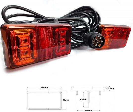 Led Rückleuchten Set 7 Polig Verkabelt 12v 24v Anhänger Beleuchtung Rücklicht Auto