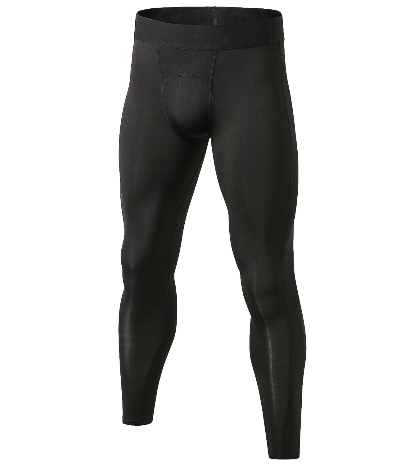 Lavento Men's Compression Pants Mesh Cool Dry Workout Tights (1 Pack-1040 Black, Large)
