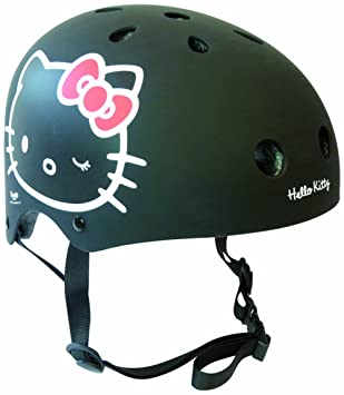 Darpèje HELLO KITTY - Casco tamano XS (48-52cm) - Negro