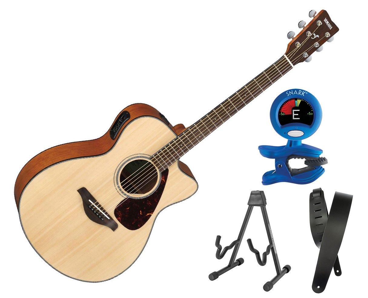 Yamaha fsx800 C acústica guitarra eléctrica pequeño cuerpo sólido superior - Natural Bonus Kit: Amazon.es: Instrumentos musicales