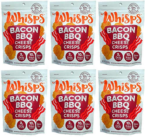 Grilled Cheese Bacon - Whisps Cheddar Bacon BBQ (2.12oz) 6 Pack