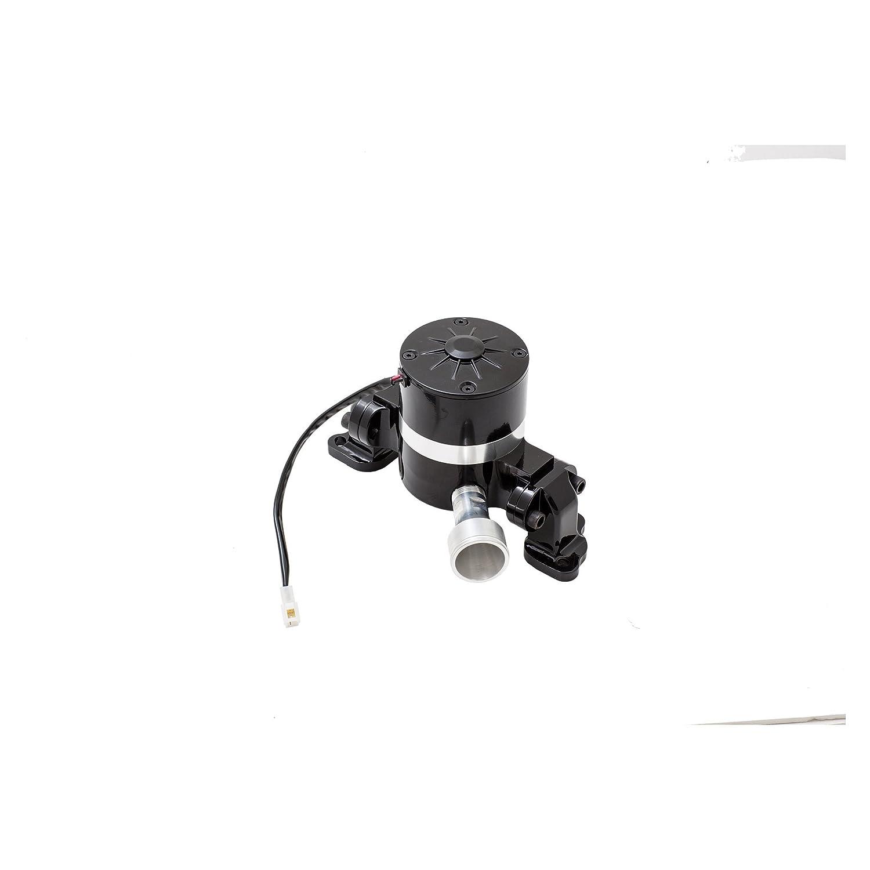 Top Street Performance HC8030BK Black Powder Coat Finish Aluminum Electric Water Pump
