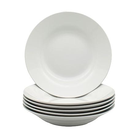 Argon Tableware White Rimmed Soup/Pasta/Cereal/Bowls - 230mm (9u0026quot;  sc 1 st  Amazon UK & Argon Tableware White Rimmed Soup/Pasta/Cereal/Bowls - 230mm (9 ...