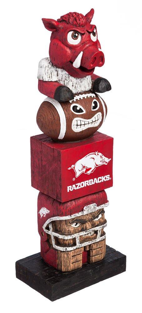 Evergreen NCAA Arkansas Razorbacks Tiki Totem