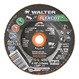 Walter 15L456 FLEXCUT Flexible Grinding Wheel [Pack of 25] - A-60-X-FLEXGrit, 4-1/2 in. Abrasive Wheel with Arbor Hole Fastening. Angle Grinding Wheels