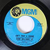 Hank Williams, Jr. with The Mike Curb Congregation; Ain't That A Shame / The End Of A Bad Day.