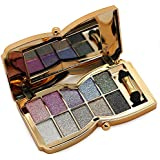 Tmalltide Natural Nudes Professional 9 Colors Diamond Bright Colorful Eye Shadow Super Flash Sparkling/Glitter Eyeshadow Colour Concealer Palette Gift Bundle