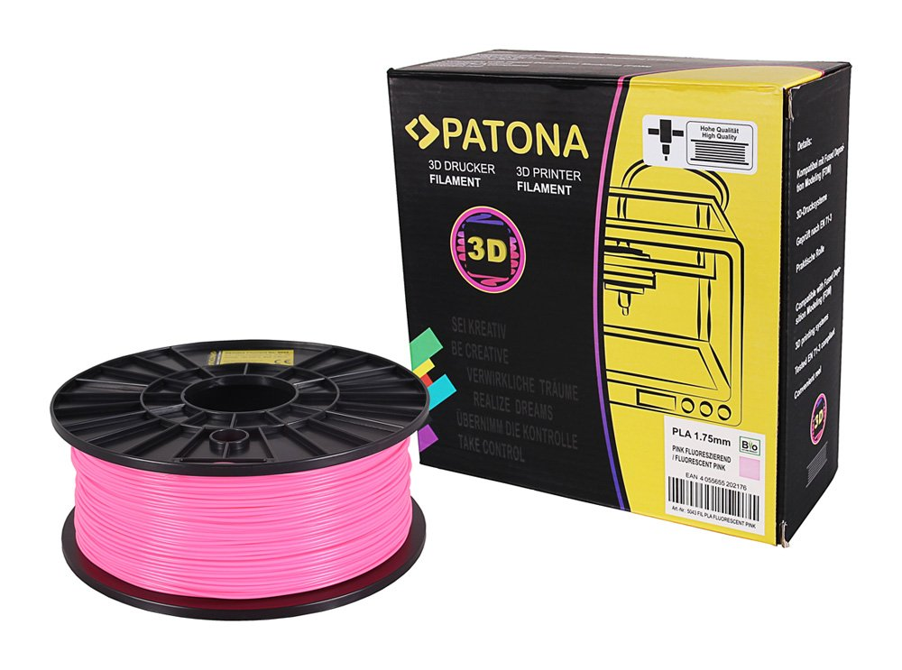Patona 3D Printer Filament - PETG - weiss (Spule / 1Kg / 1, 75mm)