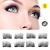 Upgraded Double Magnet - Magnetic Eyelashes - 3D Eyelashes 8 pieces