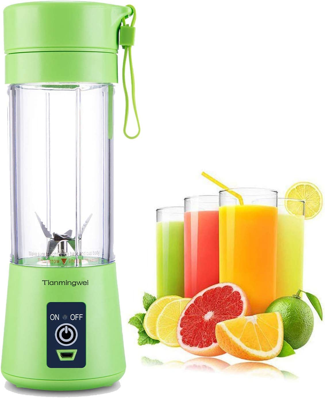 6 Blades Blender Portable Juicer Mixer