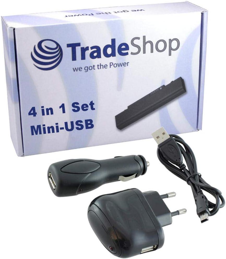Trade Shop 4in1 ZubehÖr Set Netzteil Usb Ladekabel Kfz Elektronik
