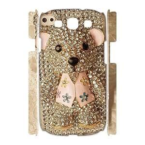 Custom Cover Case with Hard Shell Protection for Samsung Galaxy S3 I9300 3D case with Cute cartoon bear lxa#980702 Kimberly Kurzendoerfer