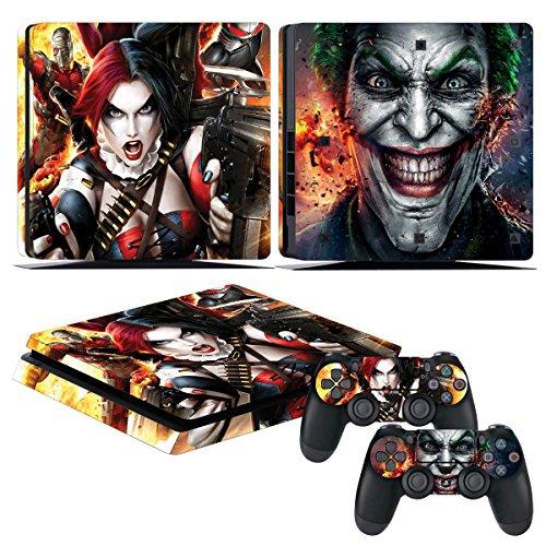EBTY-Dreams Inc. - Sony Playstation 4 Slim (PS4 Slim) - Batman DC Universe Harley Quinn Joker Vinyl Skin Sticker Decal Protector
