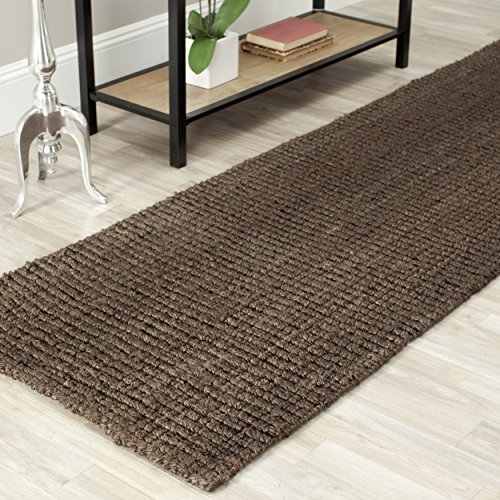 Dark Adult Chocolate (Safavieh Natural Fiber Collection NF447D Hand Woven Brown Jute Runner (2'6