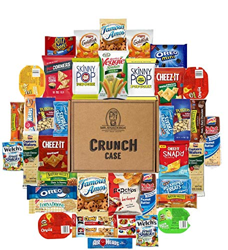 Snack Variety Care Package Gift Box (40 Count) - College Students, Military, Work or Home - Over 3 Pounds of Snacks!