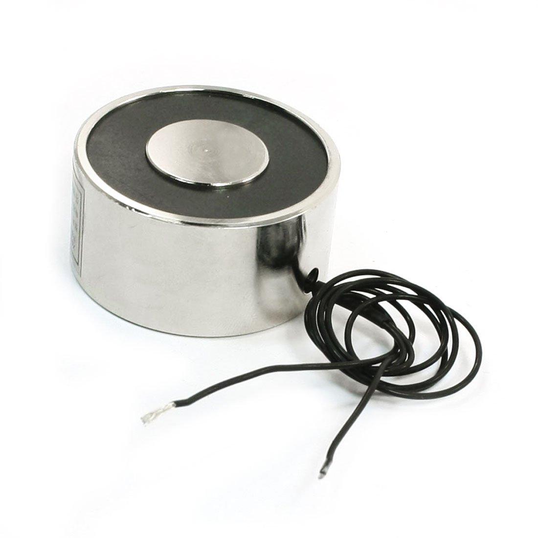 Uxcell Force Lifting Magnet Electromagnet Solenoid, 24V DC, 40 mm, 55 lb./25 kg